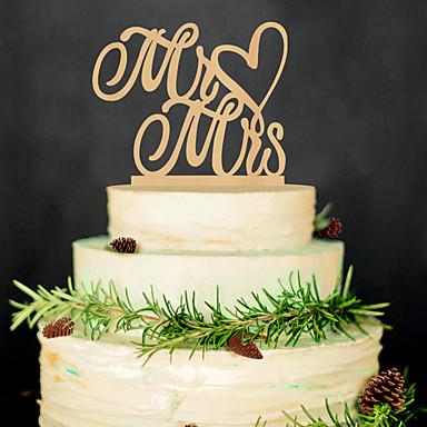 Aniversário / Festa de Casamento Madeira Mistura de Material Decorações do casamento Tema Clássico Inverno Primavera Verão Outono Todas