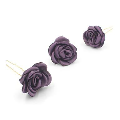 abordables Coiffes-Tissu Coiffure / Épingle à cheveux avec Fleur 1pc Mariage / Occasion spéciale Casque
