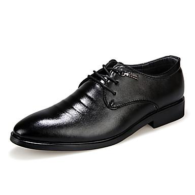 Miehet kengät PU Kevät Kesä Syksy Talvi Comfort Oxford-kengät Solmittavat Käyttötarkoitus Kausaliteetti Musta