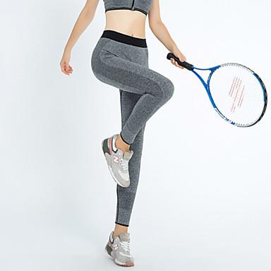 女性用 ランニングタイツ ベースレイヤー パンツ サイクリングタイツ ボトムズ のために ヨガ テコンドー エクササイズ&フィットネス レジャースポーツ ランニング タクテル スリム ブラック ダークグレー レッド バイオレット XS S M L