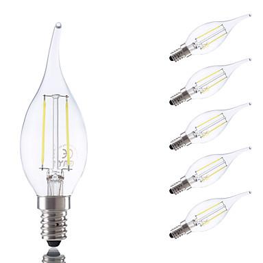 GMY® 6pcs 250lm E14 LED-glødepærer B 2 LED perler COB Varm hvit Kjølig hvit 220-240V