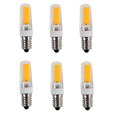 6pcs 3200 lm E14 LED-lamper med G-sokkel T 1 leds COB Varm hvit Kjølig hvit AC 220-240V