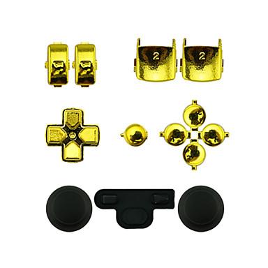 controlador de substituição kit de montagem caso definido para o controlador ps3 de ouro / prata