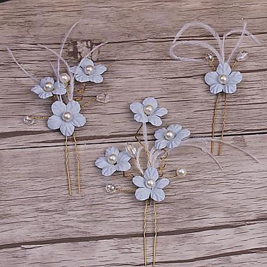 女性用 人造真珠 合金 かぶと-結婚式 パーティー カジュアル バンスクリップ ヘアピン ティアラ ヘアクリップ 3個