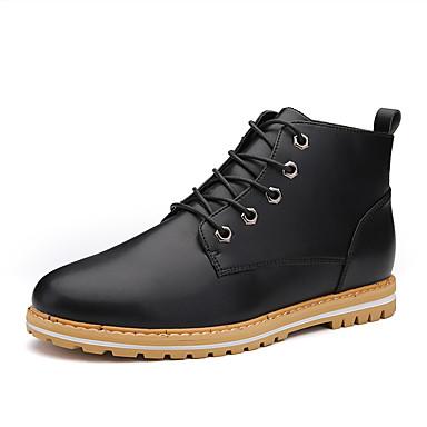 Miehet kengät PU Kevät Kesä Syksy Talvi Comfort Muotisaappaat Bootsit Käyttötarkoitus Kausaliteetti Musta Sininen