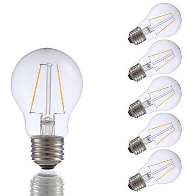 GMY® 6本 200lm E26 フィラメントタイプLED電球 A17 2 LEDビーズ COB 調光可能 温白色 110-130V
