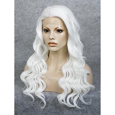 Syntetisk hår Parykker Bølget Naturlig hårlinje Blonde Forside Cosplay-parykk