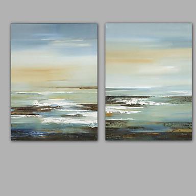 Hang malte oljemaleri Håndmalte - Abstrakt Klassisk Moderne Inkluder indre ramme / Stretched Canvas