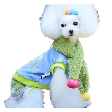 Hund Kjeledresser Hundeklær Søtt Fargeblokk Regnbue