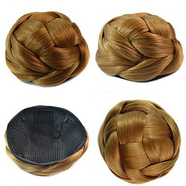 povoljno Perike i ekstenzije-vjenčanje svadba updo punđa kolač clips sintetičke ravne kose ekstenzije više boja