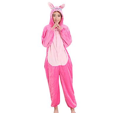 Voksne Kigurumi-pysjamas Anime / Blå Monster Onesie-pysjamas Kostume Fløyel Mink Cosplay Til Pysjamas med dyremotiv Tegnefilm Halloween Festival / høytid / Jul