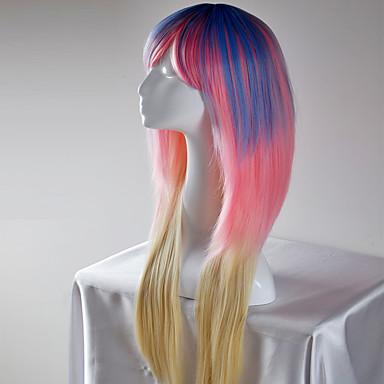 女性用 人工毛ウィッグ ロング 非常に長いです ストレート ブルー ナチュラルウィッグ ハロウィンウィッグ カーニバルウィッグ コスチュームウィッグ