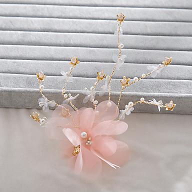 成人用 人造真珠 ファブリック かぶと-結婚式 パーティー カジュアル ヘアクリップ 1個