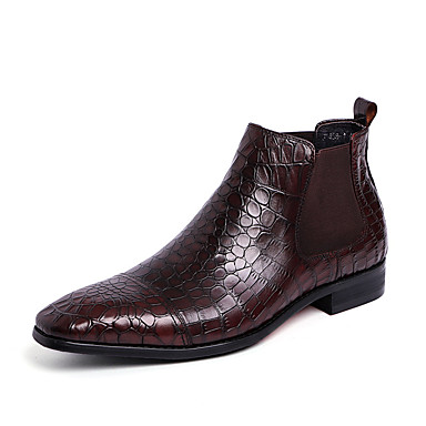 Miesten kengät Nahka Comfort Bootsit varten Kausaliteetti Musta Kahvi