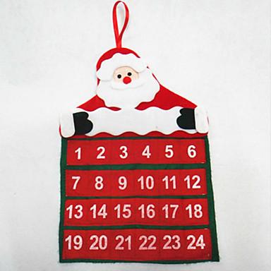 クリスマスカレンダーサンタクロースカレンダー30 * 40センチメートルの誕生日セット