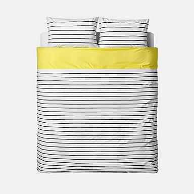 布団カバーセット 縞柄 4個 反応染料 1×布団カバー 2×枕カバー 1×フラットシーツ