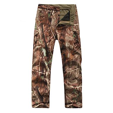Pantalones de caza con camuflaje Hombre / Mujer Impermeable / Mantiene abrigado / Listo para vestir camuflaje Invierno Vellón / Shoftshell Pantalones / Sobrepantalón para Esquí / Camping y senderismo
