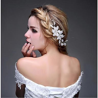 Tekojalokivi Metalliseos Päänauhat Tukkakammat Kukkaset Hair Stick Hiustarvikkeet Päähine