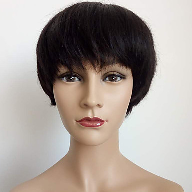 muodikas polkkatukka peruukki kone teki lyhyt peruukki neitsyt hiuksista mikään pitsi Brasilian hiukset suoraan bob peruukki