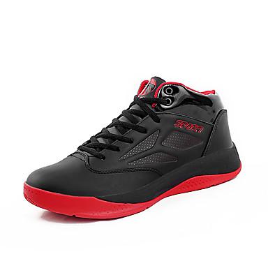 Miehet kengät Mikrokuitu Syksy Comfort Urheilukengät Koripallo Käyttötarkoitus Urheilullinen Musta Punainen Laivastosininen