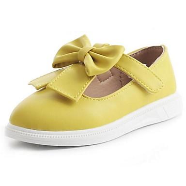 Jente Flate sko Komfort PU Avslappet Gul Fersken Rosa Flat