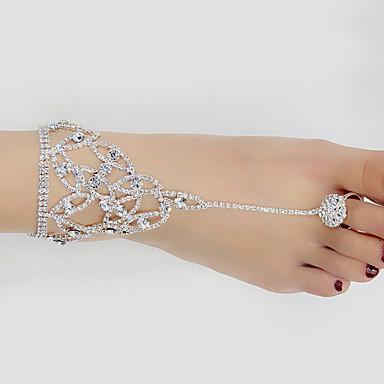 voordelige Dames Sieraden-Dames Enkelring voeten sieraden Gesimuleerde diamant Enkelring Sieraden Wit Voor Bruiloft