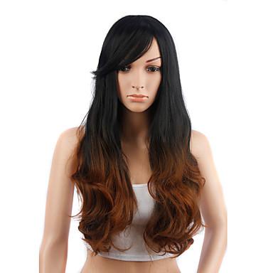 Cabelo Sintético perucas Ondulado Sem Touca Peruca Natural