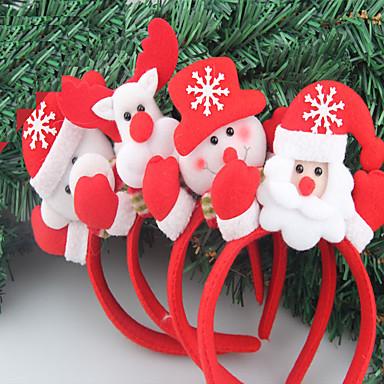 2stk christmas pannebånd julebord rekvisitter enkelt hode spenne lyst hår hodeplagg utvalg (stil tilfeldig)