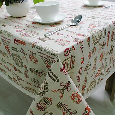 方形 パターン柄 休暇 テーブルクロス , コットンブレンド 材料 ホテルのダイニングテーブル 表Dceoration