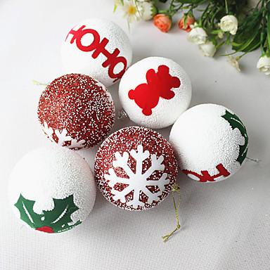 1個クリスマスさ8cmフォームクリスマスボールクリスマスツリーのペンダントクリスマスオーナメントクリスマスオーナメント(スタイルランダム)