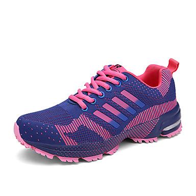 Damen Schuhe Atmungsaktive Mesh Stoff Tüll Winter Herbst Komfort Sportschuhe Rennen Flacher Absatz Runde Zehe Schnürsenkel für Sportlich
