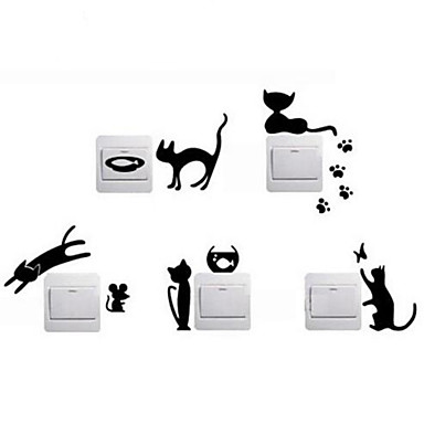 Animales Pegatinas de pared Calcomanías de Aviones para Pared Calcomanías Decorativas de Pared Calcomanías Para Los Interruptores de Luz,