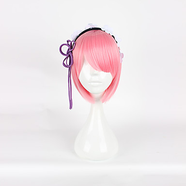 Anime Re Zero Starting Life In Another World Wigs Rem Ram Cosplay Synthetic Wig Hair Halloween Carnival Party Women Cosplay Wig With The Most Up-To-Date Equipment And Techniques Costumes & Accessories
