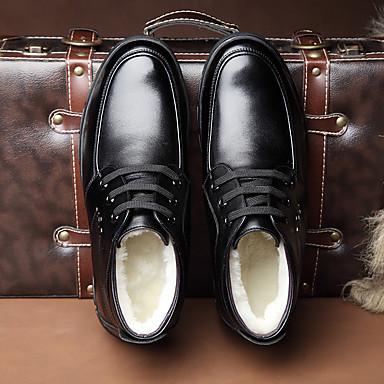 男性用 靴 レザー コンフォートシューズ ブーツ のために カジュアル ブラック