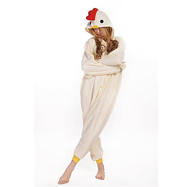 Pyžama Kigurumi Kohout / Kuře Pyžamo Onesie Kostým polar fleece Cosplay Pro Dospělé Animal Sleepwear Karikatura Halloween Festival /