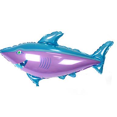 voordelige Ballonnen-Ballen Ballonnen Vissen Shark Groot formaat Opblaasbaar Feest Aluminium Jongens Geschenk