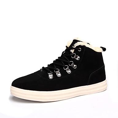 メンズ 靴 スエード 秋 冬 コンフォートシューズ スニーカー 用途 カジュアル ブラック グレー Brown