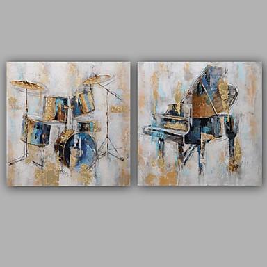 Håndmalte Abstrakt Dyr Klassisk Moderne Lerret Hang malte oljemaleri Hjem Dekor To Paneler