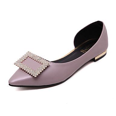 Dame-Lakklær-Flat hæl-Ballerina-Flate sko-Fritid-Svart Grå Lys Lilla