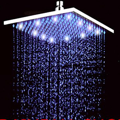 Contemporary Rain Shower Nickel Brushed Feature - Rainfall LED, Shower Head