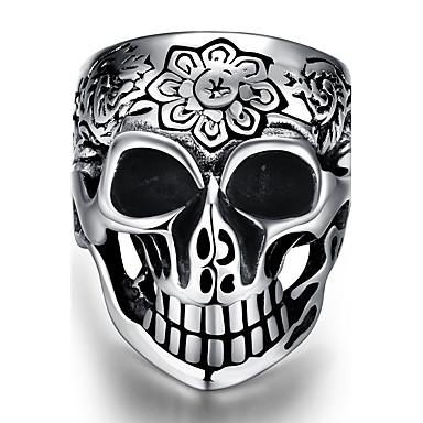 男性用 指輪 パンク ステンレス鋼 スカル ジュエリー Halloween 日常 カジュアル スポーツ
