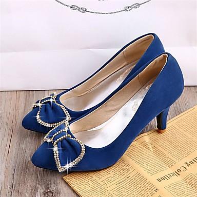 Rouge Talons Printemps Cône pointu Confort Talon à Laine Chaussures 05410997 Chaussures Femme Eté Fleur Bleu synthétique Noir Marche Bout qwaa8Og