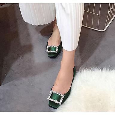Dame-Silke-Flat hæl-Annet-Flate sko-Formell Fritid-Svart Rød Grønn