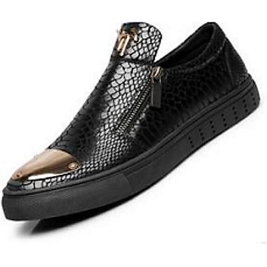 メンズ 靴 レザー コンフォートシューズ ローファー&スリップアドオン 用途 カジュアル ブラック シルバー