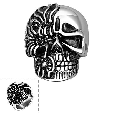 男性用 指輪 - ステンレス鋼 スカル オリジナル 8 / 9 / 10 シルバー 用途 Halloween / 日常 / カジュアル