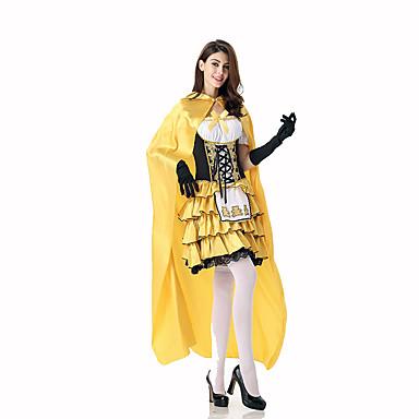 Prinsessa Satuteema Naiset Halloween Joulu Karnevaali Lasten päivä Uusi vuosi Oktoberfest Festivaali/loma Halloween-asut Painettu