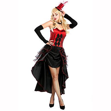 Dronning Eventyr Festival/høytid Halloween-kostymer Rød Svart Ensfarget Kjole Hansker HodeplaggHalloween Jul Karneval Barnas Dag Nytt År