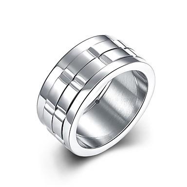 Herre Rustfritt Stål / Sølvplett Andre Forlovelsesring / Ring - Personalisert / Unikt design / Mote Sølv Ringe Til Bryllup / Fest / Daglig