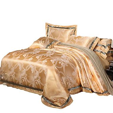 Conjunto de Capa de Edredão Luxo Mistura de Seda / Algodão / Algodão Jacquard 4 Peças / 400 / 4peças (1 edredão, 1 lençol, 2 coberturas)