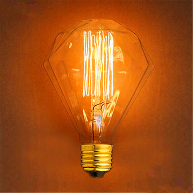 1pç 40 W E26 / E27 G95 Branco Quente 2300 k Retro / Decorativa Incandescente Vintage Edison Light Bulb 220-240 V